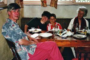 Daddy, Granny, Aunt Nooshk, Andrew & Robert, UK