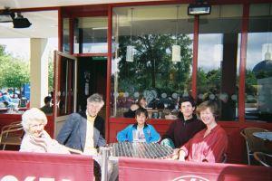 Andrew with Granny, Aunt Nooshk, Robert & Daddy, UK