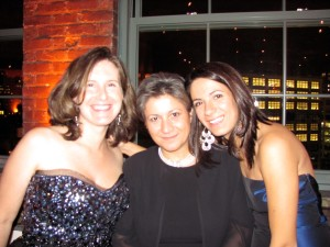 October 22, 2009 Florentina and I with Emma Rooney who kindly chaired the Ball this year, with Florentina, Andrew and Robert as cho-chairs