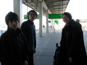 """March 27, 2008 -Robert, Andrew & Florentina collecting me at the Airport on my return from India"""