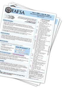 """FAFSA"" application form"