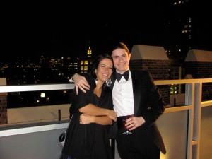 """Florentina & Andrew smiling happily - Tribeca - Manhattan October 22, 2009"""