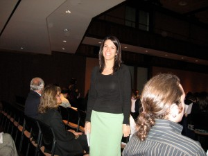 Florentina receiving the Cavalcanti award prior to her graduation in 2008