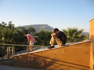 """""""Robert & Andrew in Sicily, on the terrace at my Uncle's House - August 2007"""""""