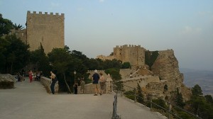 """View of the ancient """"Castle of Venus - Erice - Sicily"""""""