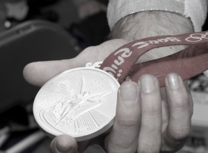 """Tim Morehouse Silver Medal from the 2008 Olympics"""