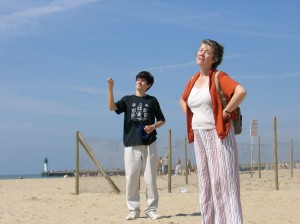 """Andrew flying kites with his Aunt in England"" - July 2005"