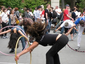 """""""Hula Hooping at Get Your Wellness On Suicide Awareness & Prevention Fair in washington Square Park"""""""