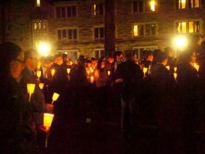 """Yale - Students hold vigil for Cameron Dabaghi"""