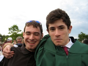 Andrew with his friend Eric, at Andrew's High School graduation - June 2007