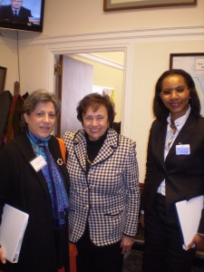 """ First step into Advocacy - Elizabeth and I with Congresswoman Nita Lowey"" - Washington - March 2010"