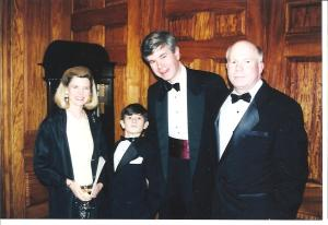 "Puffing up his chest, my little Andrew at the 1999 ""Windflower Ball, his first - Union League Club - Manhattan"""