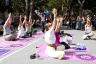 """Yoga"" at the Get Your Wellness On Fair in Washington Square Park - September 12, 2010"