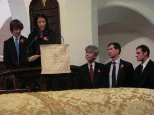 "Florentina speaking at ""Andrew's funeral"""