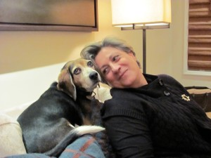 "Jessie the photogenic beagle & ""Esmeralda"" the not so photogenic human"