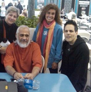 """Me, """"Swami Ramakrishnananda"""", Shaina & Anthony"""