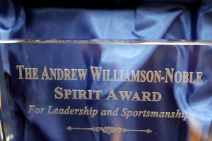 """The Andrew Williamson-Noble Spirit Award - Fencing"""