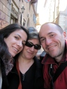 "With my daughter and my cousin in ""Trastevere"""
