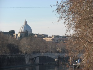 "Beautiful view from ""Ponte Sisto"""
