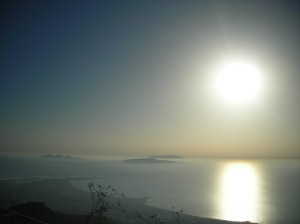 A view from Erice of the Egadi Islands