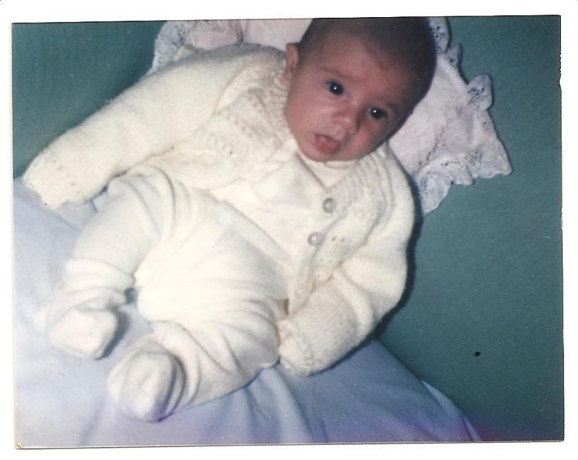 """My Beautiful baby son Alexander when he was only a few weeks old. When he """"died of SIDS"""" he was seven and half months old"""