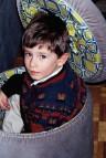 """Milan, Italy. February 1993 - """"Andrew"""" inside a cushion box"""