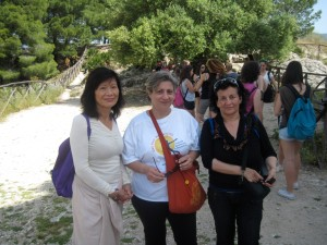 """With """"Dr. Weng"""" and my friend Caterina"""