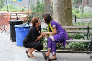 "Dr. Weng & I Just before the Fair - ""Washington Square Park"" - Sept. 10, 2011"