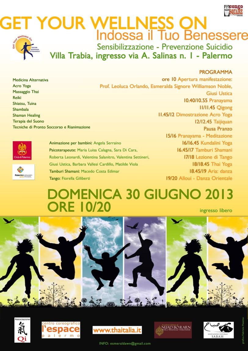 """Get Your Wellness On"" - Italian Flyer"