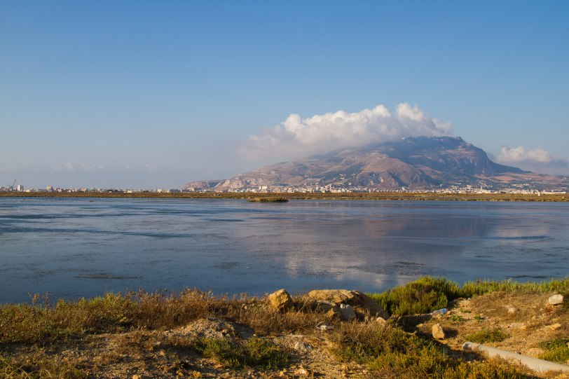 """Salt pans of Nubia with Erice in the background"""