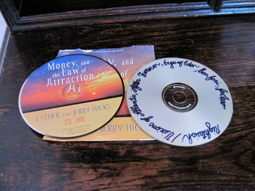 """Andrew's home made CD"" on the right"